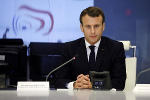 ประธานาธิบดีเอ็มมานูเอล มาครง ของฝรั่งเศส