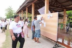 นายอานนท์ แสนน่าน ประธานหมู่บ้านเพื่อประชาธิปไตย แห่งประเทศไทย ตรวจหน่วยเลือกตั้งพื้นที่ อ.เมืองอุดรธานี