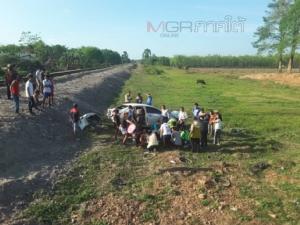ระทึก! รถไฟปาดังเบซาร์-หาดใหญ่ชนเก๋งขณะข้ามทางรถไฟไร้เครื่องกั้น เจ็บ 2 ราย