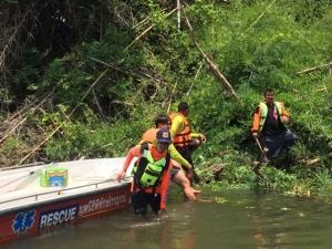 10 วัน ยังไร้วี่แววร่างหนุ่มพนักงานขับรถ ธ.กสิกรไทยหลังจมน้ำที่ริมแควน้อย