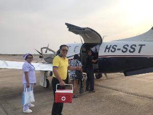 """""""อนุทิน"""" งดภารกิจการเมือง ช่วยงานสภากาชาดไทย ผ่านภารกิจ """"หัวใจติดปีก"""" รับส่งหัวใจจากร้อยเอ็ด- กรุงเทพฯทันเวลาแม้เจอพายุฤดูร้อน"""