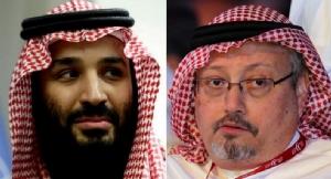 เจ้าชายโมฮัมเหม็ด บิน ซัลมาน มกุฎราชกุมารแห่งซาอุดีอาระเบีย (ซ้าย) และ จามาล คาช็อกกี คอลัมนิสต์ชาวซาอุฯ ที่ถูกสังหาร (แฟ้มภาพ)