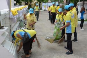 ชาวอุดรฯ ทำความสะอาดวัดมัชฌิมาวาส เตรียมจัดพิธีสมโภชน้ำอภิเษก