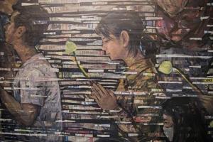 วิทยาลัยเพาะช่าง ม.ราชมงคลรัตนโกสินทร์ จัดแสดงจิตรกรรมสื่อผสม งานวิจัยสะท้อนวิถีชีวิตชาวพุทธในสังคมไทยร่วมสมัย