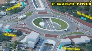 ทางหลวงแจ้งคนเมืองอุบลรับมือรถติดสร้างอุโมงค์ถนนเลี่ยงเมือง 2 จุดนาน 3 ปี