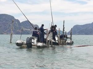 ลุยรื้อโป๊ะน้ำตื้นกว่า 90 ลูกชายฝั่งเกาะลันตา-คลองท่อม ลักลอบทำประมงฤดูวางไข่