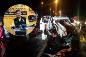 """สงกรานต์ 2 วัน เกิดอุบัติเหตุ 969 ครั้ง ดับ 105 ราย """"ลพบุรี"""" ตายมากสุด สั่งเข้มถนนทุกสายรอบพื้นที่เล่นน้ำ"""