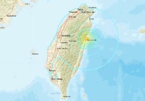 แผ่นดินไหว 6.0 เขย่าภาคตะวันออก 'ไต้หวัน' ยังไม่มีรายงานผู้บาดเจ็บ