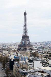 หอไอเฟลเมื่อมองจากประตูชัยฝรั่งเศส