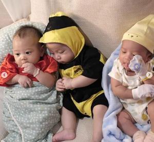 """น่ารักละมุน! เมื่อสามแม่ลูกอ่อน """"อีฟ-หนูเล็ก-ต้นหอม"""" มาพบกัน"""