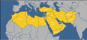 <i>แผนที่ตะวันออกกลาง และแอฟริกาเหนือ </i>