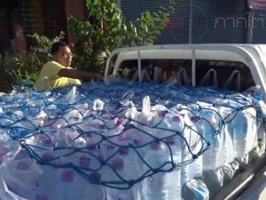 """กลุ่ม """"น้ำใจคนดอน ช่วยเหลือชาวเกาะ"""" ระดมรับบริจาคน้ำช่วยเหลือชาวเกาะสาหร่าย"""