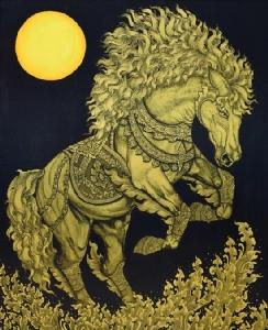 ศิลปิน: อามานี่ ชื่อผลงาน: ม้า