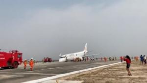 พม่าระทึก เครื่องเมียนมาร์แอร์ไลน์ล้อหน้าไม่กาง นักบินลงจอดฉุกเฉินสำเร็จ ไร้คนเจ็บ