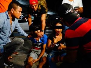 ตำรวจพัทลุงบุกรวบหนุ่มวัยรุ่นพร้อมแฟนสาวลักลอบค้ายาเสพติดในห้างดัง