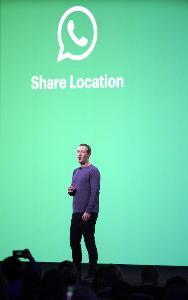 Mark Zuckerberg บนเวทีงานประชุมนักพัฒนาประจำปี F8 2019