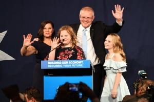 รักษาการนายกรัฐมนตรีออสเตรเลีย สก็อต มอร์ริสัน และครอบครัว