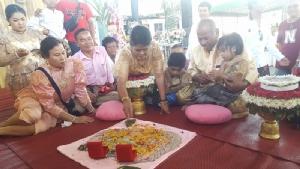 ฮือฮา งานแต่งแฝดชาย-หญิงใน จ.ชลบุรี เชื่อแก้เคล็ดเจ็บป่วย
