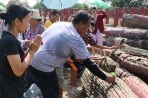 ชาวบ้านกรุงเก่าลุกฮือไม่พอใจการบูรณะเพนียดคล้องช้างผิดรูปไปจากของเดิม