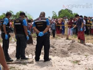 สยองวันรายอ! ชาวบ้านพบศพถูกฆ่าฝังดินในกุโบร์บ้านบ่อโชนที่สงขลา