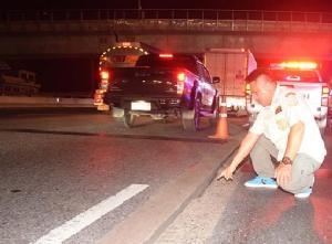 ศพที่ 5 จยย.ตกร่องถนนด่วนกาญจนาภิเษก พลิกคว่ำเสียชีวิต