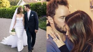 """รวดเร็วทันใจ """"คริส แพรตต์"""" ควงลูกสาว """"อาร์โนลด์"""" เข้าพิธีแต่งงานแล้ว"""