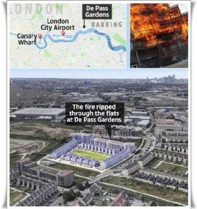 "In Pics&Clips :สุดระทึก!! ""แฟลตอีสต์ลอนดอน"" ไหม้ครั้งมโหฬาร วอดร่วม 20 ห้อง ใช้ดับเพลิง 100 นาย รถฉีดน้ำอีก 20 คันเข้าผจญเพลิงกว่าจะสงบ"