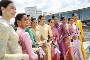 """""""มิสยูนิเวิร์สไทยแลนด์ 2019"""" สง่างามในชุดไทย สวยจนไม่อยากละสายตา"""