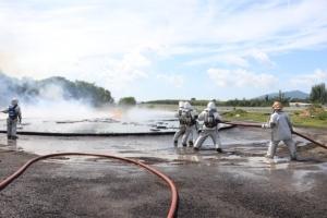 ท่าอากาศยานภูเก็ตฝึกซ้อมดับเพลิง เพิ่มทักษะรับมือเกิดเหตุการณ์จริง