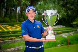 """""""ขวัญชัย"""" จบ 22 อันเดอร์ คว้าแชมป์สิงห์ออลไทยแลนด์ที่สุวรรณฯ"""