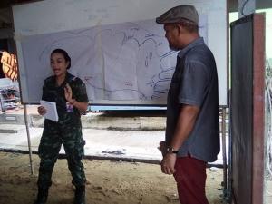 ทหารร่วมรับฟังปัญหาการขุดลอกอ่าวปัตตานี จากตัวแทนชาวประมงพื้นบ้าน
