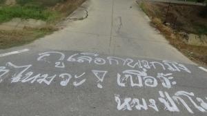 รู้ตัวแล้ว คนเมาใช้สีเขียนถนน ระบายความในใจ เกี่ยวกับเมือง