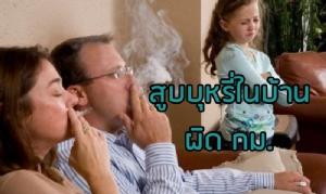 ดีเดย์ 20 ส.ค. สูบบุหรี่ในบ้านผิด กม. ฐานใช้ความรุนแรงในครอบครัว ส่งศาลเอาผิดอาญา สั่งบำบัดรักษา