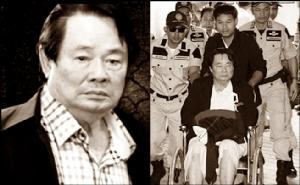 นายสมชาย คุณปลื้ม หรือกำนันเป๊าะ อายุ 82 ปี อดีตนายกเทศมนตรีเมืองแสนสุข จ.ชลบุรี