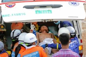 เขมรเฮพบผู้รอดชีวิตเพิ่ม 2 คน ฮุนเซนสั่งตรวจไซต์ก่อสร้างทุกจุดในสีหนุวิลล์