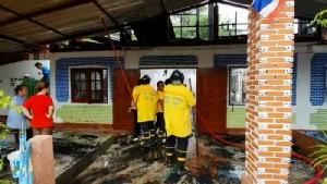 ไฟไหม้บ้าน ส.อบต.วอดเสียหายกว่า 1 ล้านบาท แต่พระบรมฉายาลักษณ์ในหลวง ร.๙ ไม่ไหม้