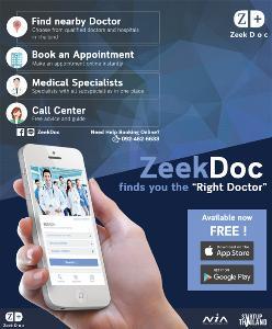 รู้จัก ZeekDoc ค้นหาหมอที่ใช่ พร้อมนัดหมายไม่ต้องรอคิวนานเป็นชั่วโมง