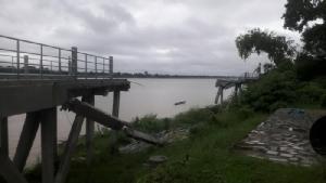 ดินสไลด์ต่อเนื่องสะพานปั่นริมโขงทรุดเพิ่ม คาดใช้เงินซ่อมกว่า 2 ล้านสร้างใหม่หลังฝน