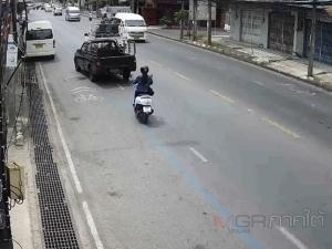 ไม่คาดคิด! รถบรรทุกแก๊สลากรถกระบะเกิดลวดสลิงขาดเฉี่ยวรถตู้เสียหาย