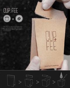 """ไอเดียล้ำ CUP.FEE ช่วยลดขยะ ด้วยคอนเซปต์ถ้วย """"กาแฟ 3 in 1"""""""