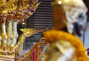 ผบ.ทร.เป็นประธานบวงสรวงเซ่นไหว้แม่ย่านางเรือพระราชพิธีขบวนพยุหยาตราชลมารค พระราชพิธีบรมราชาภิเษก ซ้อมย่อยครั้งแรกวันที่ 22 ส.ค.นี้