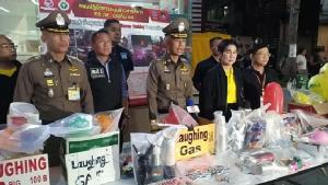 จับ9ผู้ต้องหาลอบขายแก๊สหัวเราะให้นักเที่ยว ย่านถนนข้าวสาร