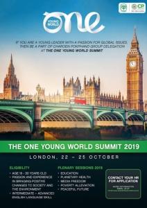 """ซีพีเตรียม Kick off """"One Young World 2019"""" ประชุมสุดยอดผู้นำเยาวชนระดับโลก"""
