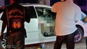 พบ จนท.เทศบาลฯสบปราบ จอดรถรมควันฆ่าตัวตายแล้ว หลังจับหมอนกดหน้าฆ่าเมียตัวเอง