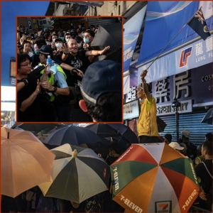 In Pics&Clip: ชาวฮ่องกงรวมตัวประท้วงต่อวันอาทิตย์  หลังวันเสาร์ถูกสเปรย์พริกไทย-กระบองตำรวจเล่นงานที่เมืองท่าติดพรมแดนจีน