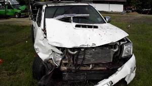 อุทาหรณ์! อดีตทหารพาญาติ 5 ชีวิตขับกระบะออกวัด รถขนแตงโมชนคนกระเด็นสาหัส 1