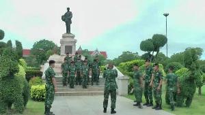 กลับกรมกองแล้ว! ทหาร มทบ.36 ถอนกำลังจากพิจิตรกลับค่ายพ่อขุนผาเมือง หลัง คสช.ยุติบทบาท