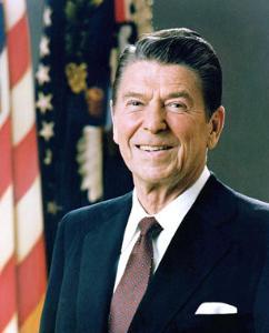 อดีตประธานาธิบดีโรนัลด์ เรแกน ของสหรัฐอเมริกา