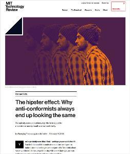 Hipster Effect : ทฤษฎีความละม้ายคล้ายกันของบรรดาฮิปสเตอร์