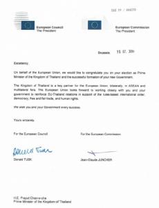 EUร่อนสารยินดี'ประยุทธ์'ได้รับเลือกเป็นนายกฯ หวังทำงานใกล้ชิดกับรัฐบาลไทย